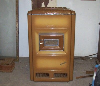 Vintage Art Deco Lear Siegler Heater Oil Burning Porcelain Stove I Remember Laying On The Floor In Front Hummel Figurines Antiques Oil Stove Vintage Art Deco