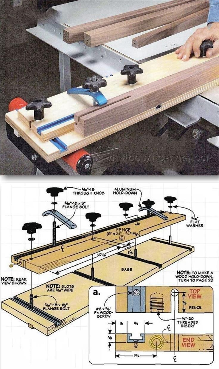 multipurpose tapering jig - furniture legs construction