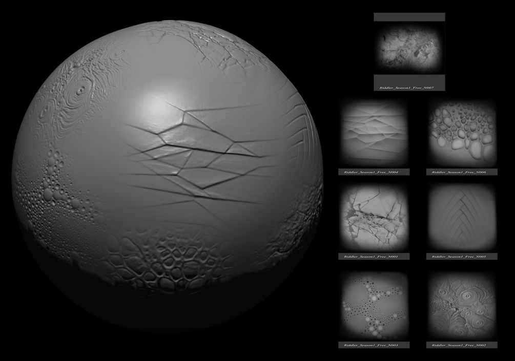 Free Organic Alpha brushes For Zbrush By riddler | Resources | Pinterest