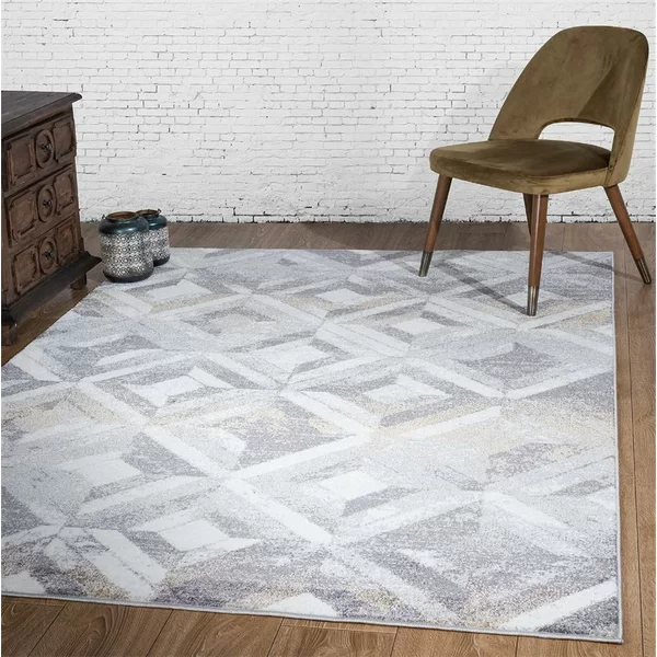 Luxe Weavers Hampstead Abstract Grey 5x7 Area Rug 5x7 Area Rug