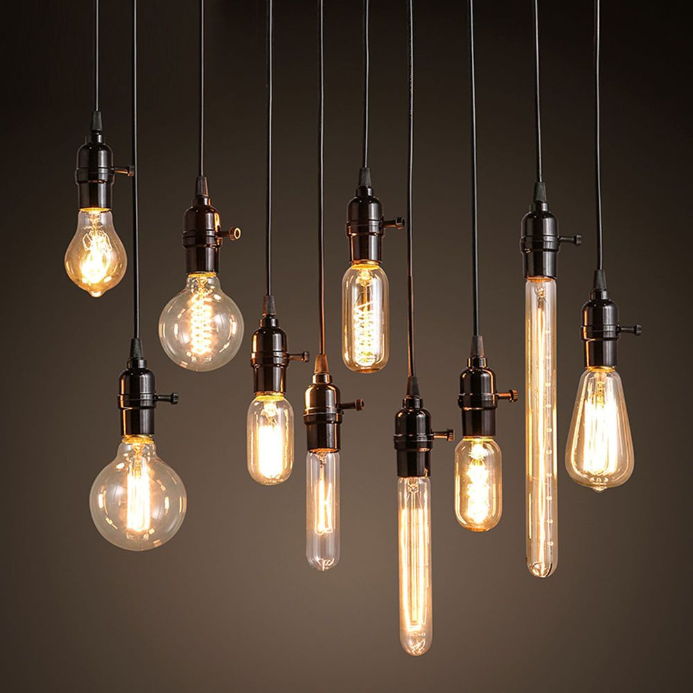 1 2 5 10pc Pendant Lamp Wire Retro Industrial Edison Hanging Light Chandeliers Hanging Light Bulbs Light Bulb Chandelier Light Bulb