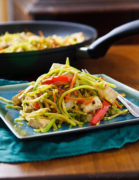 Broccoli Slaw Stir Fry With Tofu