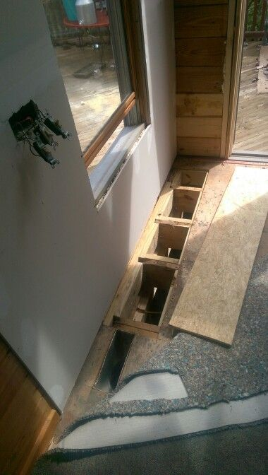 Replacing And Doubling Floor Joist And Subfloor Due To Water Damage - Bathroom subfloor replacement
