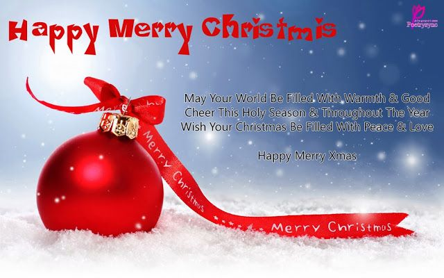 Greetings Card Of Merry Christmas Happy Christmas Wishes Quote Of