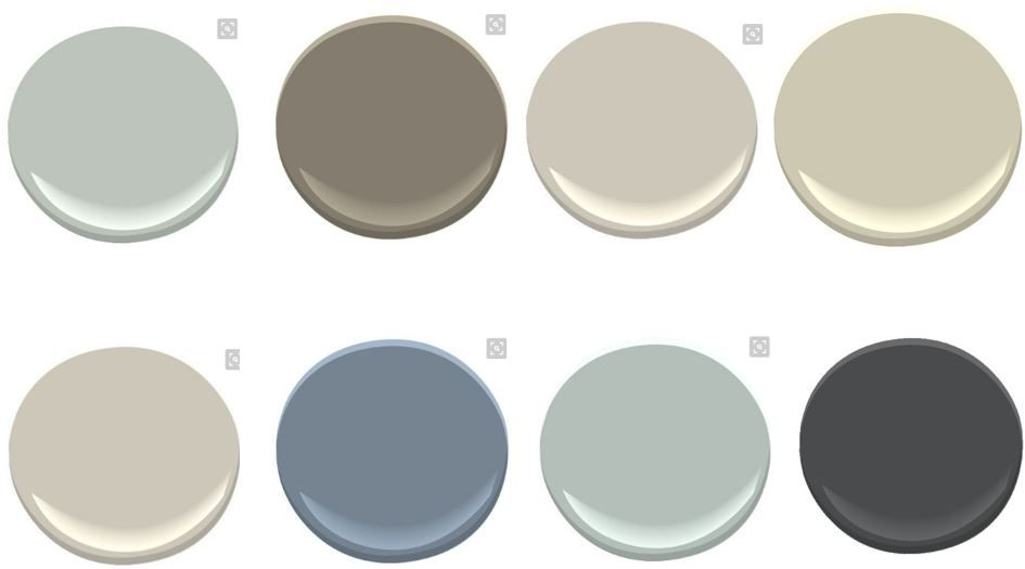 Whole House Color Scheme In Benjamin Moore Colors 1 Tranquility 2