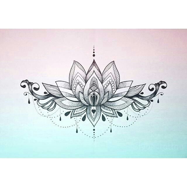 Under The Breast Would Be Nice Place Tattooed Lotus Mandala