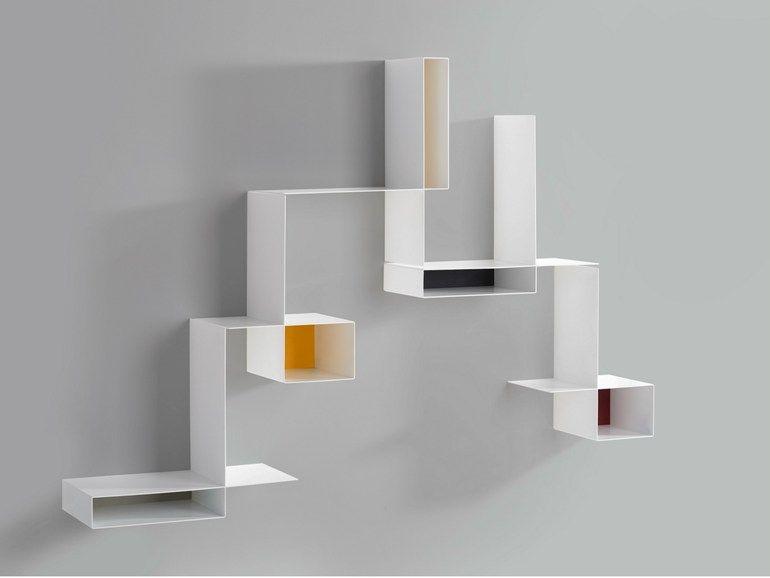 biblioth que composable suspendue en t le randomissimo by mdf italia design neuland. Black Bedroom Furniture Sets. Home Design Ideas