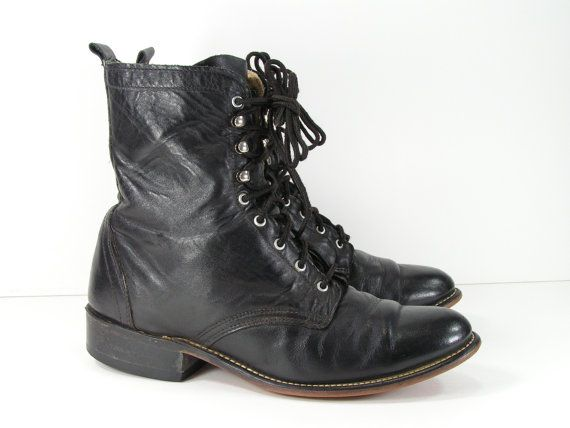 Leather boots womens 9