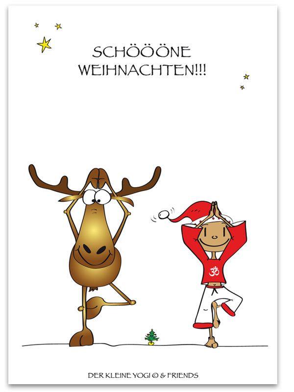 Der Kleine Yogi Postkarte Jedes Wunderschone Motiv Auf Unseren Postkarten Wird Mit 100 Liebe Leide Weihnachtswunsche Weihnachten Spruch Weihnachtsgrusse
