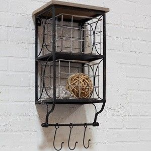 Wire Wall Hanging Baskets metal shelf with basket | wall baskets | wire wall baskets