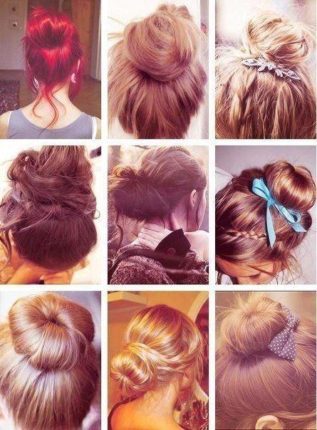 types of hair bun