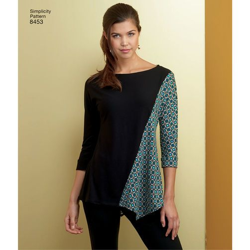 Simplicity Pattern 8453 Misses Knit Tops These Have Dolman Sleeves