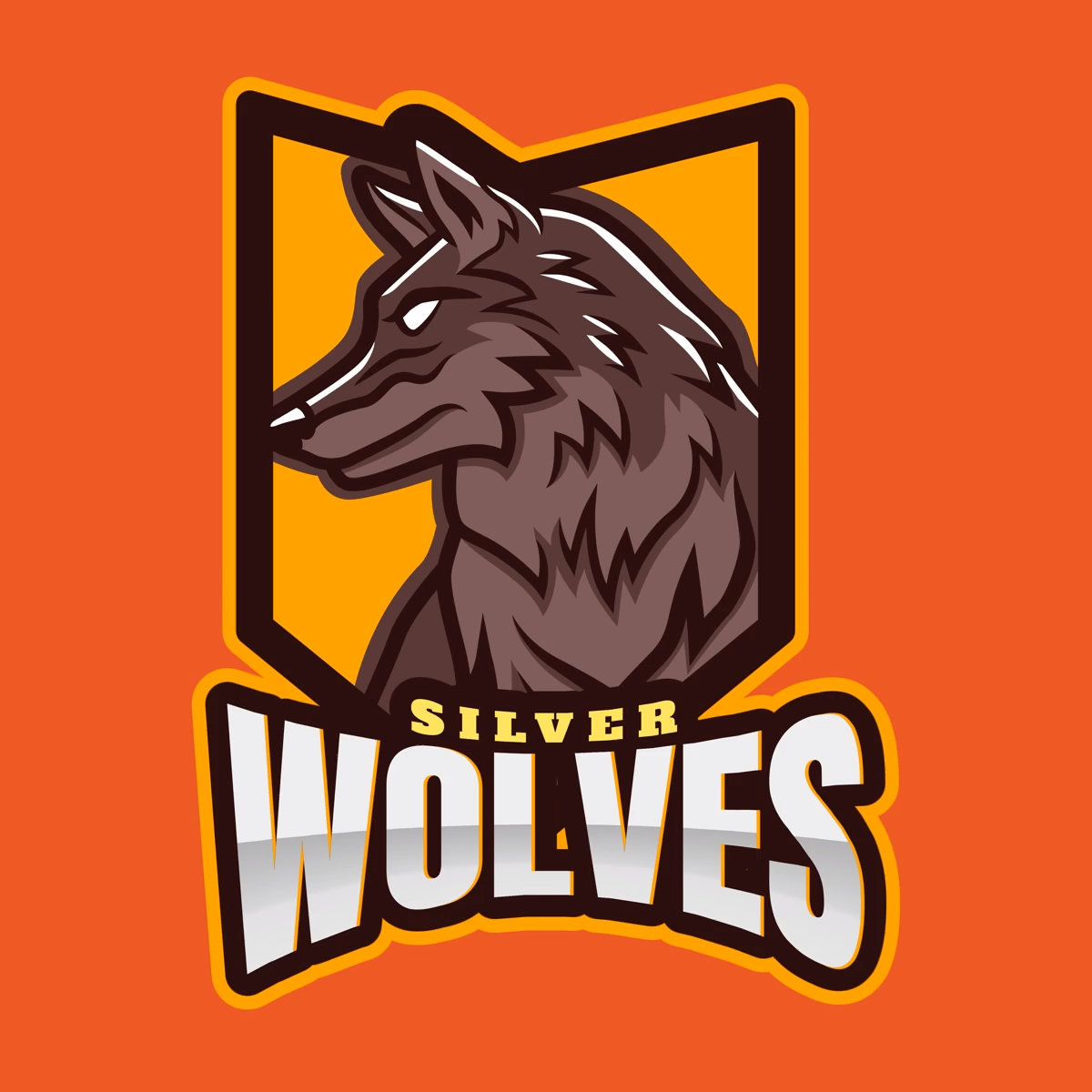 Gaming Logo Maker Featuring a Wolf Graphic