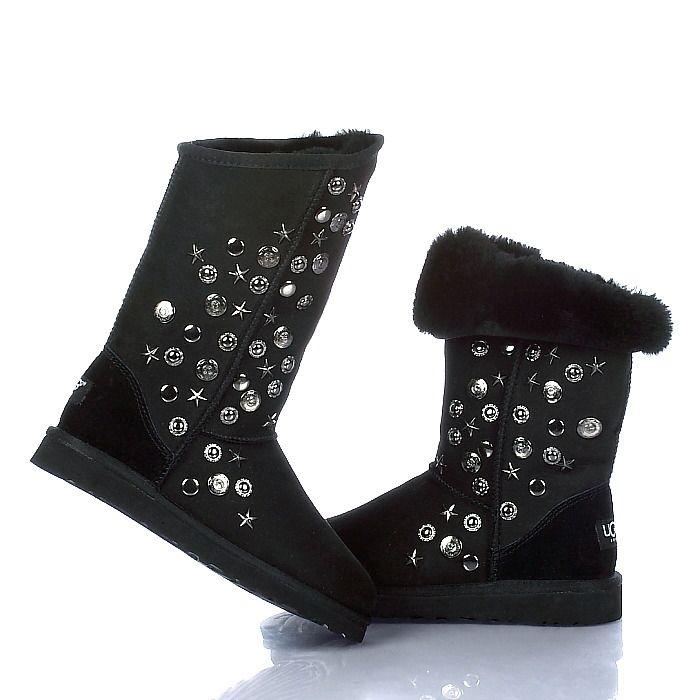 UGG Jimmy Choo Boots 5838 Black  352d5a947