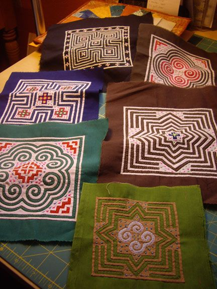 Hmong reverse applique blocks posted by Miki Willa at Miki\'s Fabric ...
