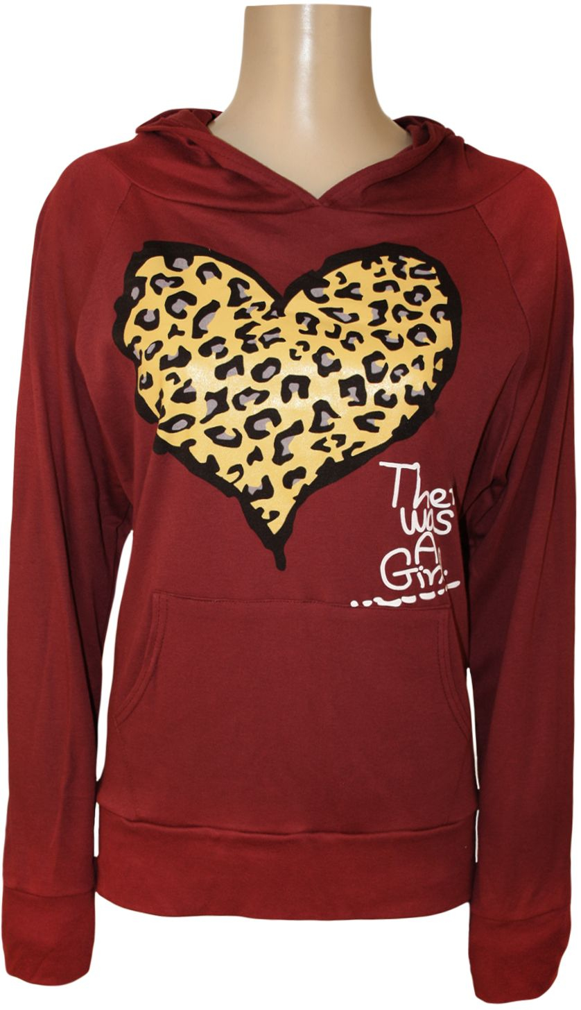 178502ed5b2 Ladies Plus Size Animal Heart Print Hooded Top Womens Long Sleeve ...