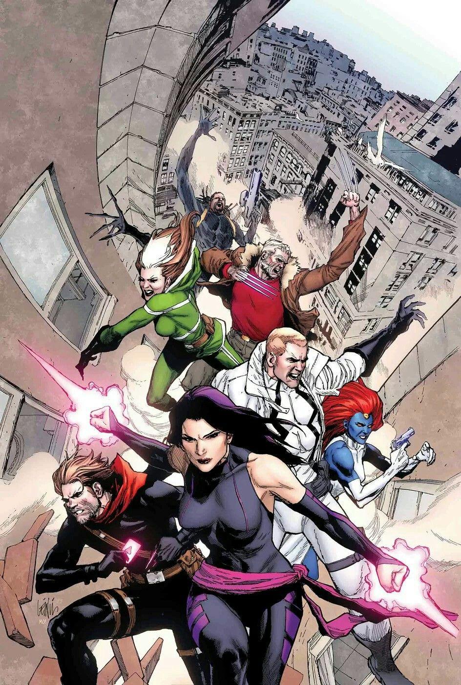 Astonishing X-Men #9 by - Psylocke, Gambit, Fantomex