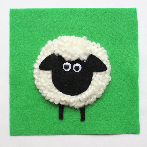Touch & Feel Sheep Quiet Book Page