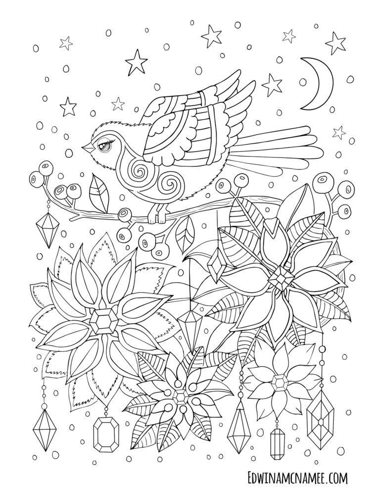 Christmas Freebies Edwina Mc Namee Coloring Books Bird Coloring Pages Coloring Pages