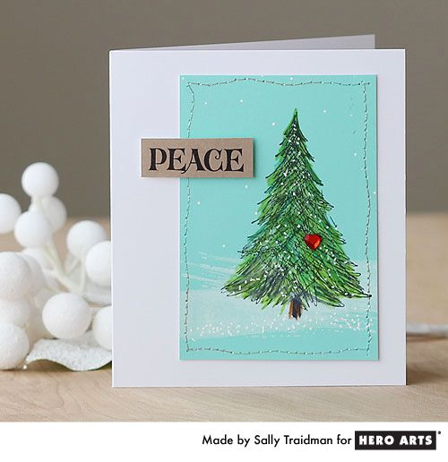 Card Making Scrapbooking And Craft Ideas With Hero Arts Stamps Christmas Cards Handmade Christmas Card Design Stamped Christmas Cards