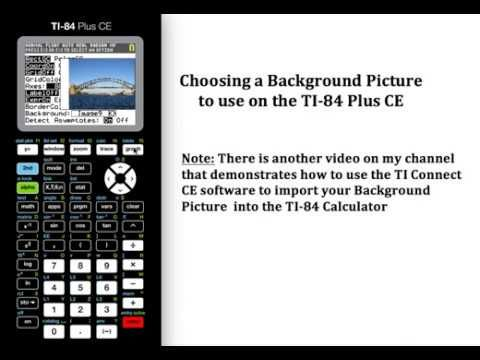 Choosing a background pic on the ti 84 plus ce ti 84 graphing choosing a background pic on the ti 84 plus ce ccuart Image collections