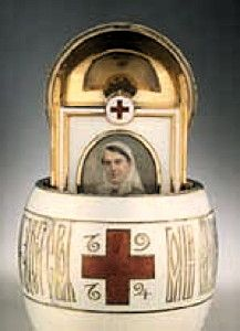 Red Cross Egg with Imperial Portraits