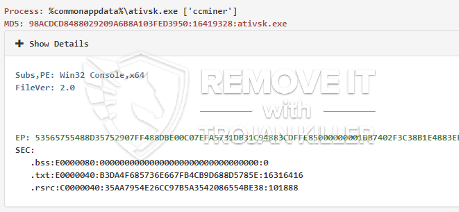 How to get rid of ativsk.exe Bitcoin Miner Removal Guidance