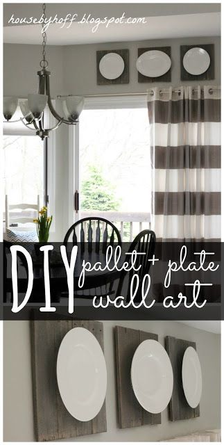 House by Hoff: Pallet + Plate Wall Art {It's $30 Thursday!}