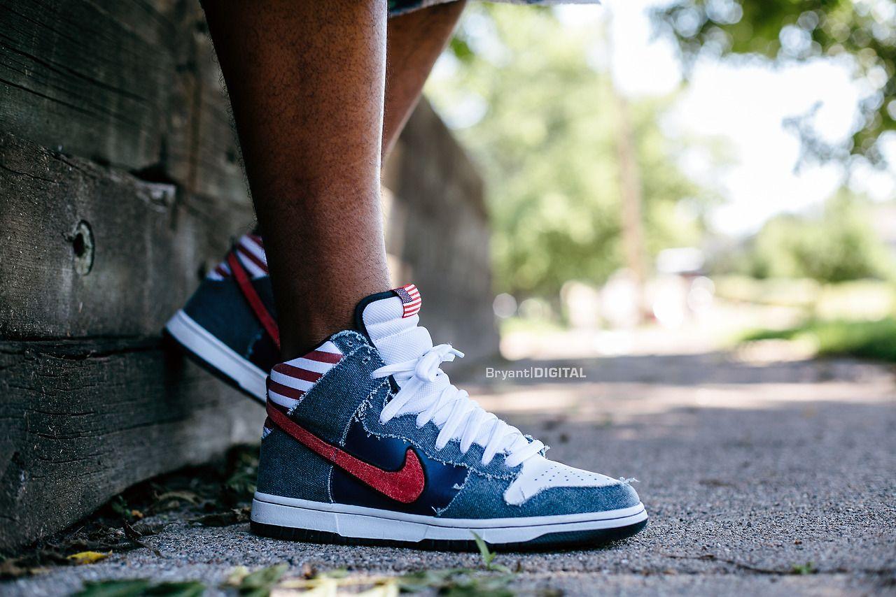 "Nike SB Dunk High ""Born in the USA"" Sneaker head, Best"