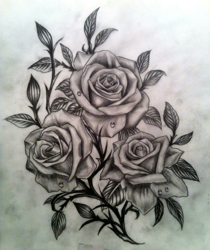 Rose Tattoos With Words Google Search: Three Roses Tattoo Man - Google Search