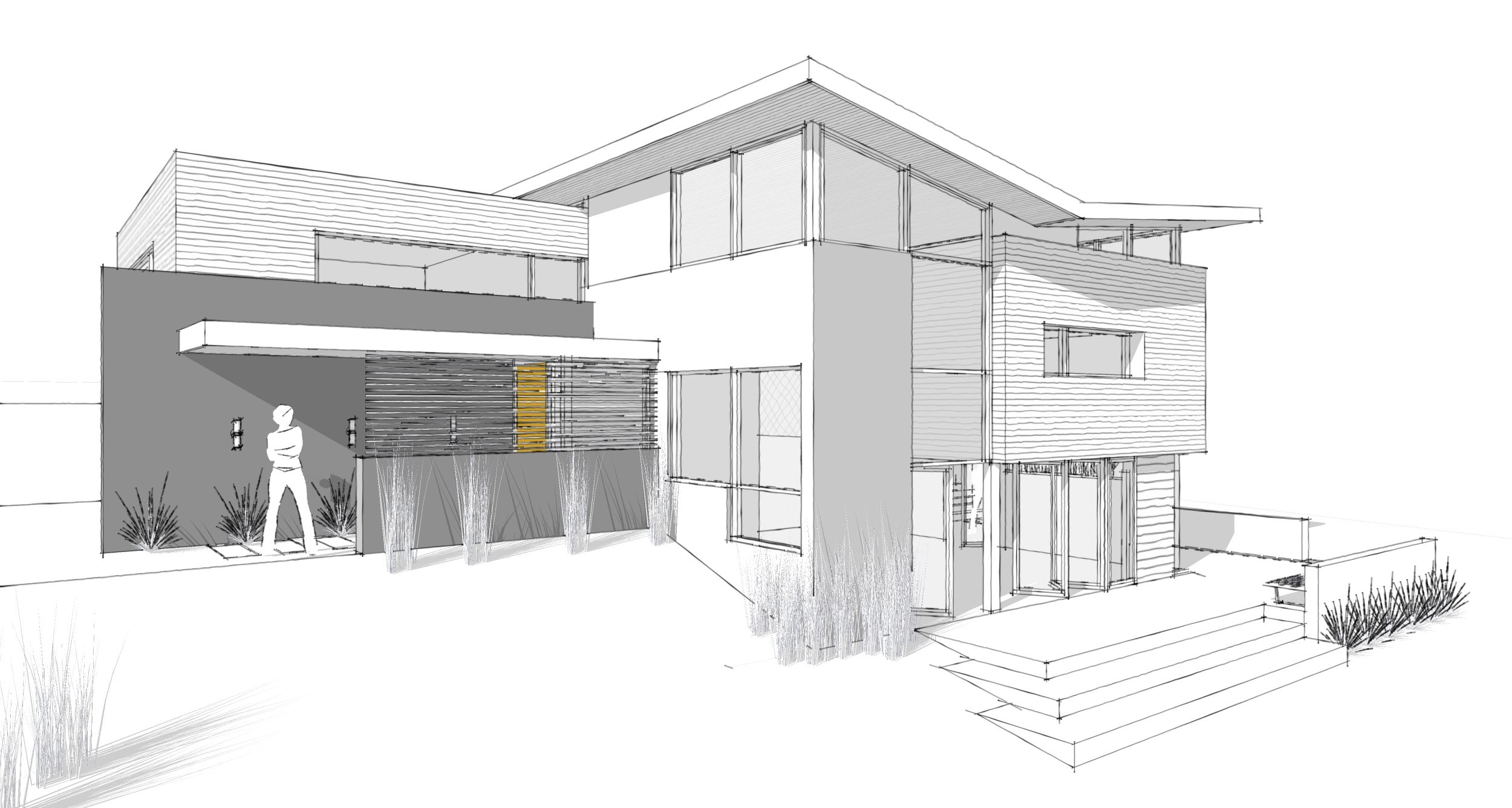 Simple Sketch Of A House Modern House