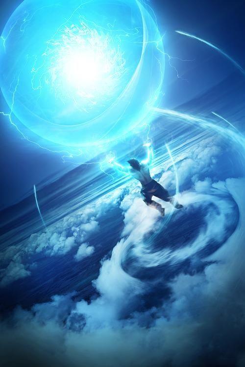 Amazing Goku spirit bomb wallpaper