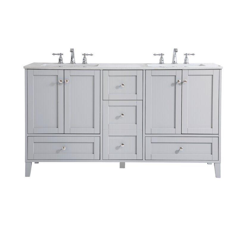 Georgina 60 Double Bathroom Vanity Set In 2020 Double Vanity