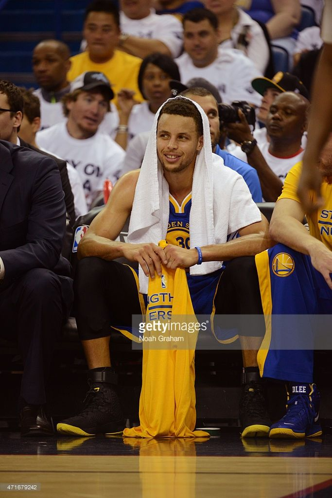beb79ed41bd stopPropagation()  Stephen Curry  a   30 of the Golden State Warriors sits  on the bench against the New Orleans Pelicans in Game Four of the Western  ...