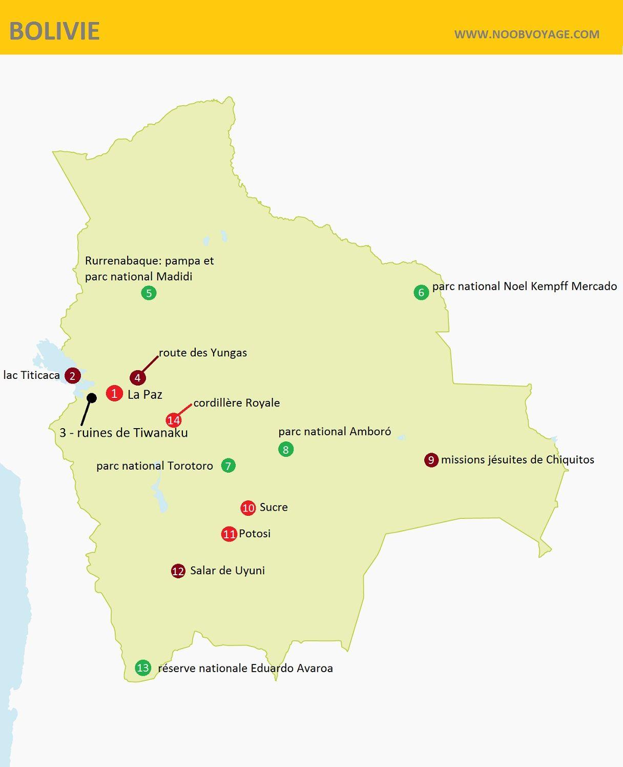 Trek Amerique Du Sud Carte.Bolivie Carte Detaillee Touristique Amerique Du Sud En