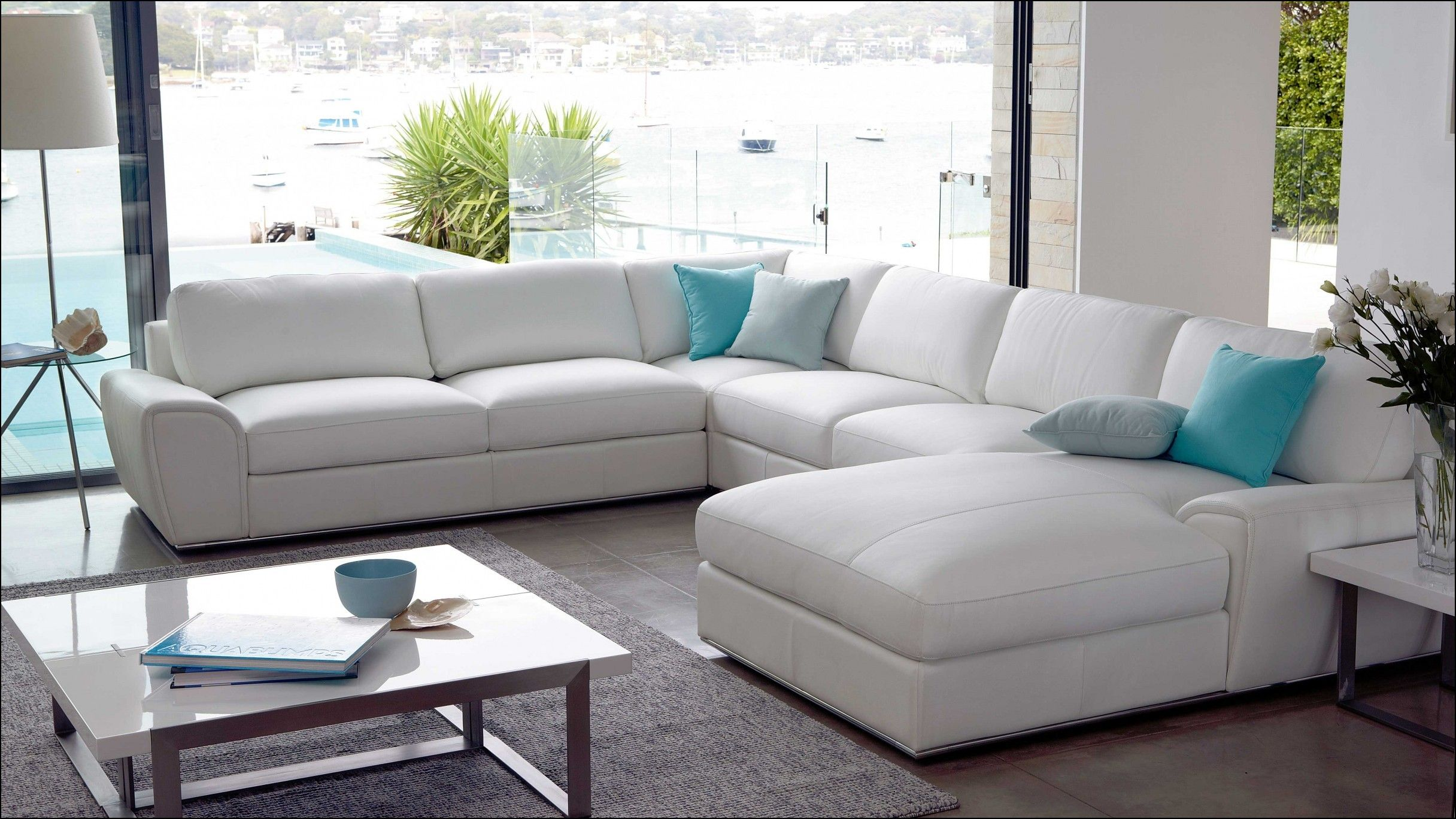 White Leather Modular Sofa