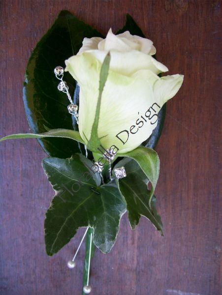 wedding rose buttonhole