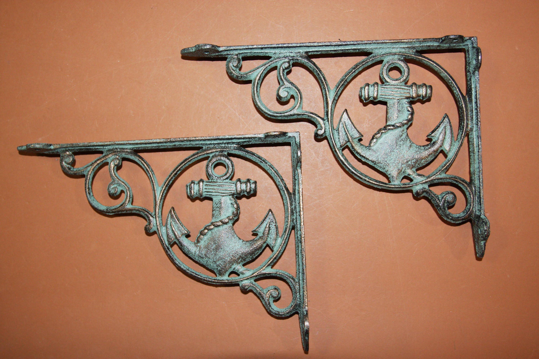 Shelf Brackets Wall Hooks 6 Sailor Gift Antique-look Maritime Wall Decor