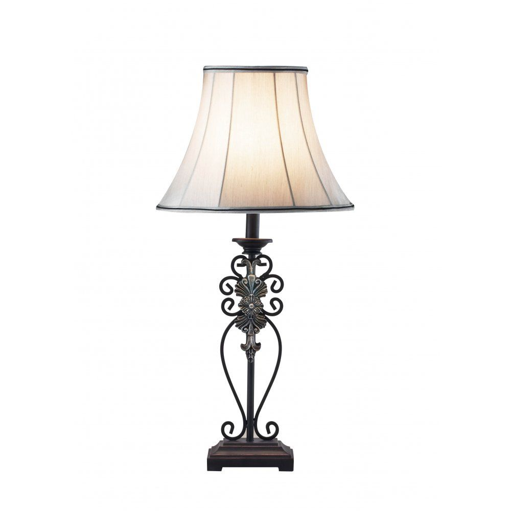 Decorative Iron Table Lamp And Shade Lamp Traditional Table Lamps Lighting