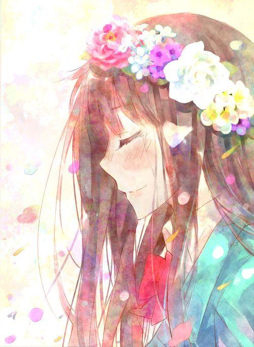 anime, kimi ni todoke, and flowers imageの画像