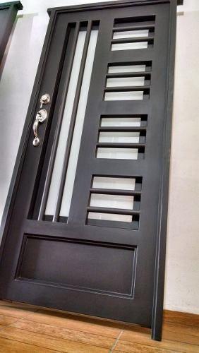 Puerta principal de forja contempor nea s per oferta for Puertas de garaje modernas