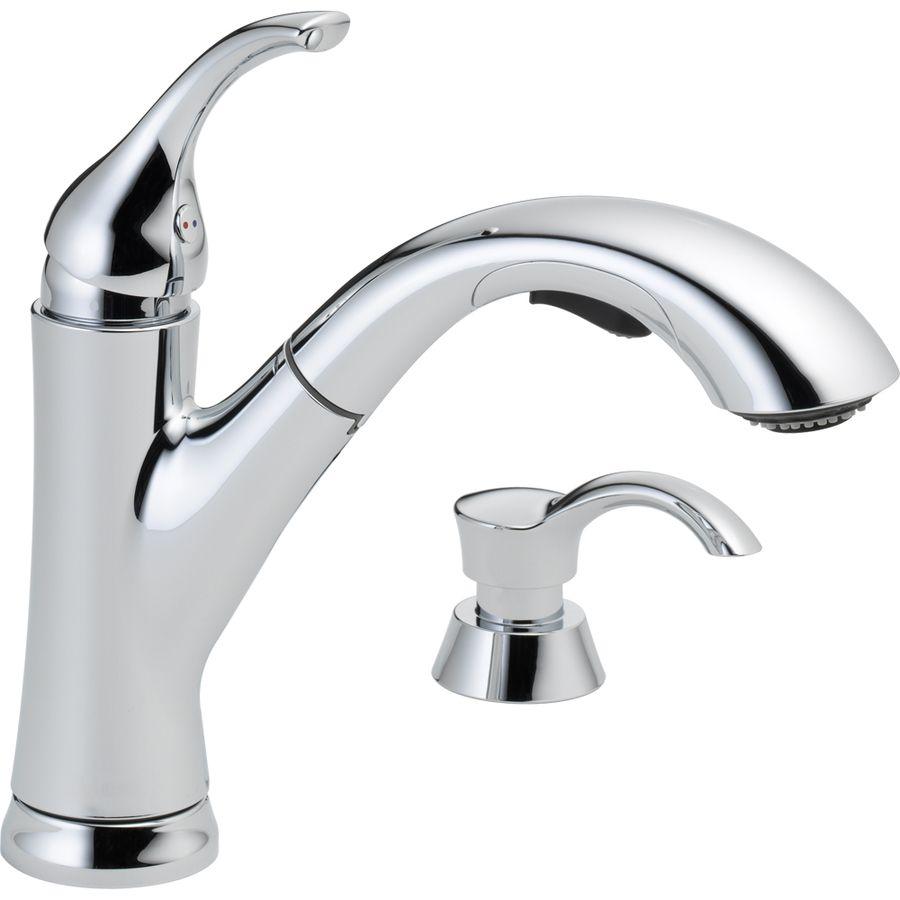 Shop Delta Kessler Chrome 1 Handle Pull Out Kitchen Faucet At