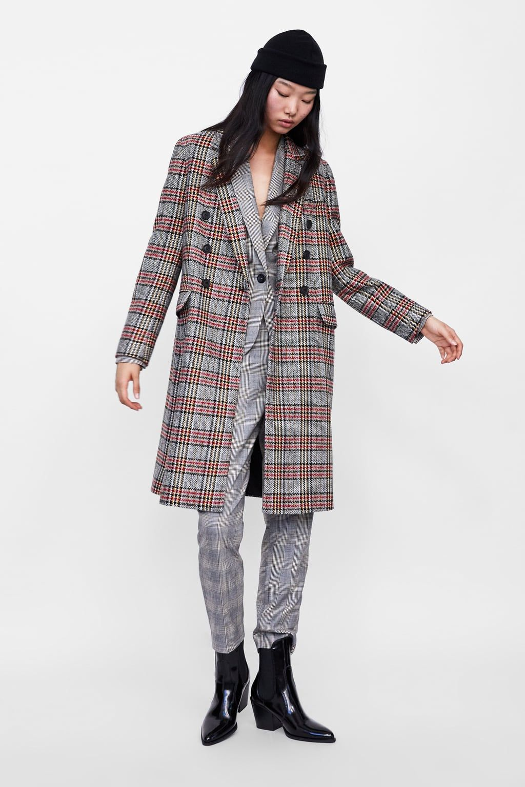 Cuadros 2019Plaid Abrigo CoatZara Cruzado In Fashion W2I9HEDY