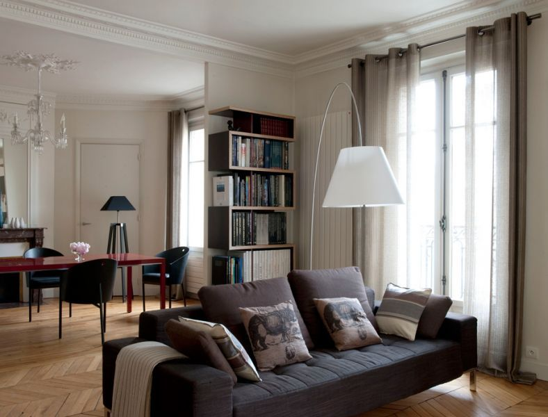 D coration salon haussmannien rivoli reunion pinterest haussmannien id - Decoration appartement haussmannien ...