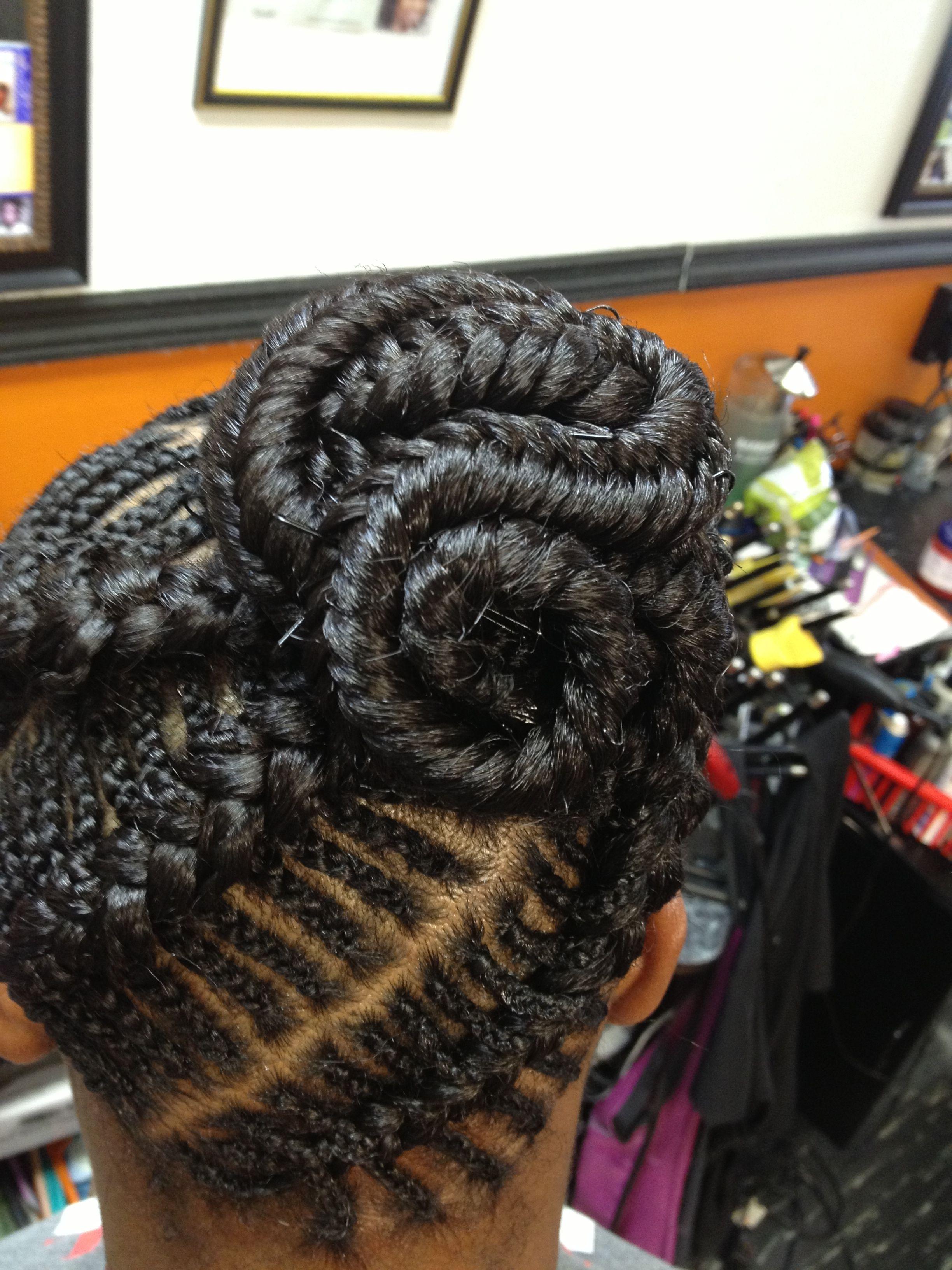 fishbone braids with a fishtail bun | amazing hair and braiding