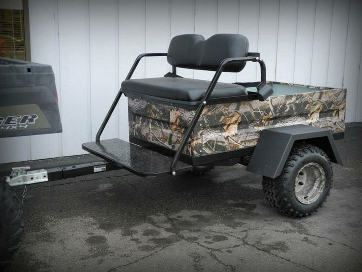 Polaris Gem For Sale >> This 2-passenger camo offroad tram/trailer is the answer, with room for 2 passengers plus gear ...