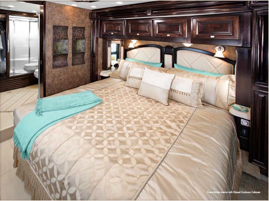2012 Tiffin Motorhome Allegro Bus Bedroom Creme