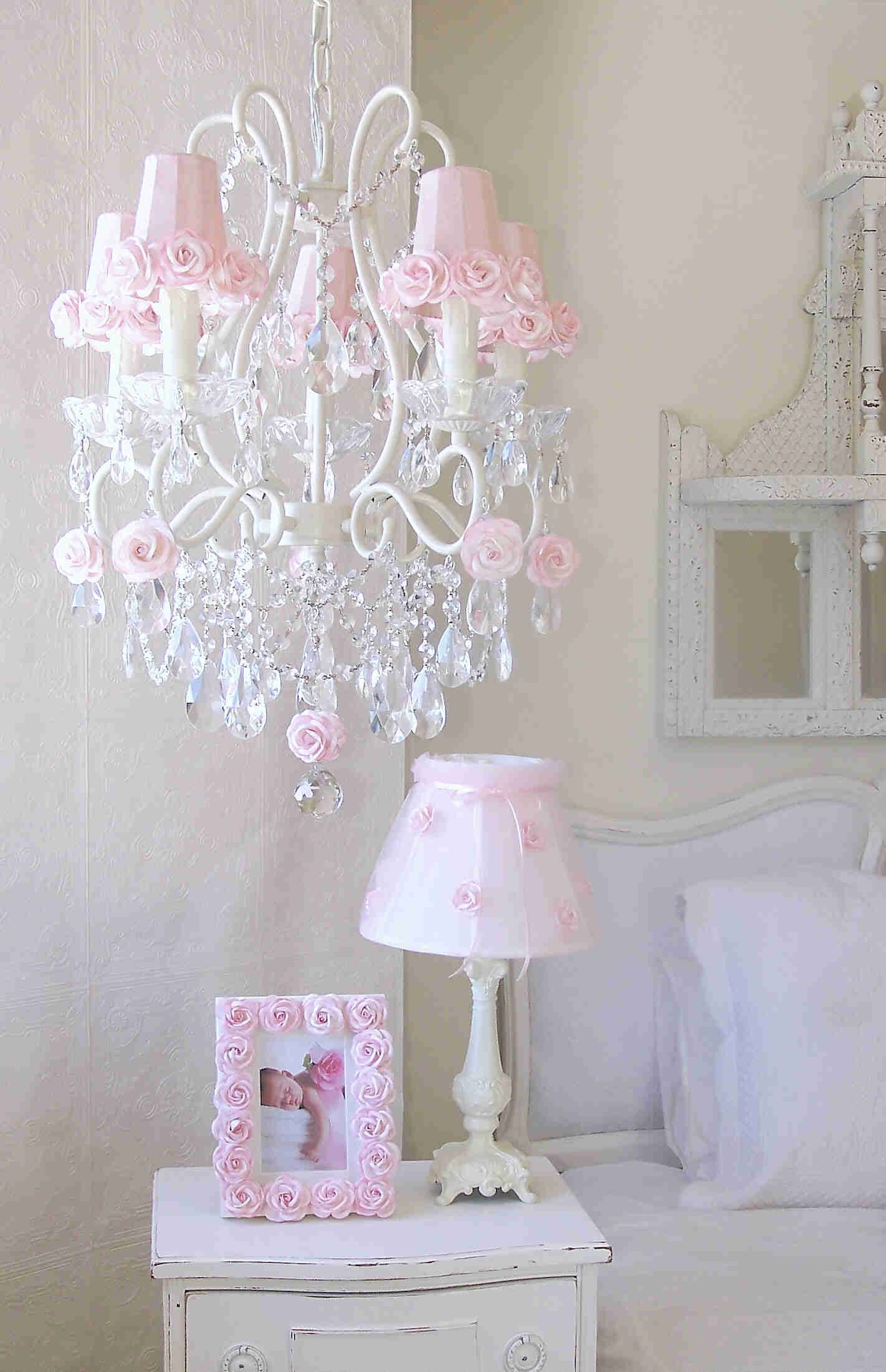 5 light chandelier with pink rose shades shabby daughters room buy your 5 light chandelier with pink rose shades here the 5 light chandelier with pink rose shades is a lovely vintage inspired design arubaitofo Image collections