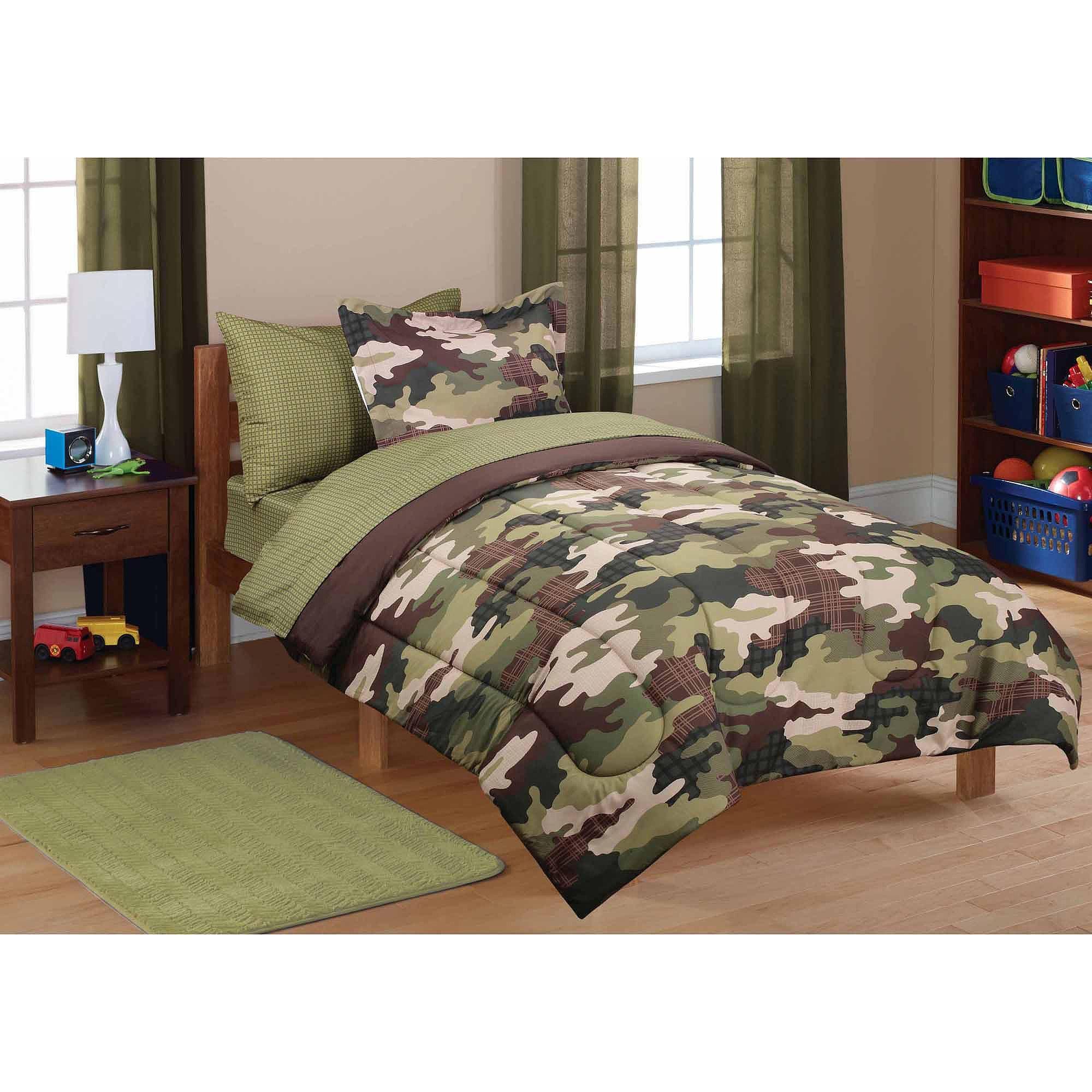 New Boy/'s Twin Size Comforter Set Camo Camouflage Bedding Comforters Sham Kid/'s