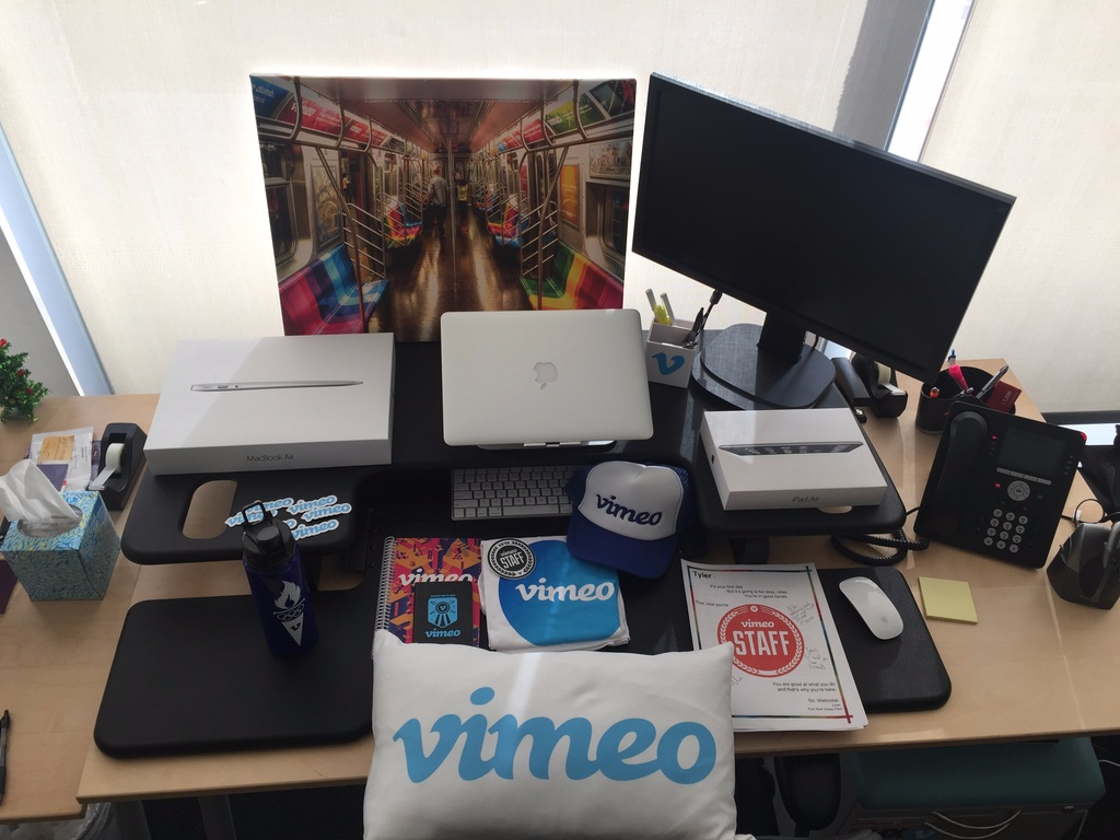 """""""new hire swag"""" 